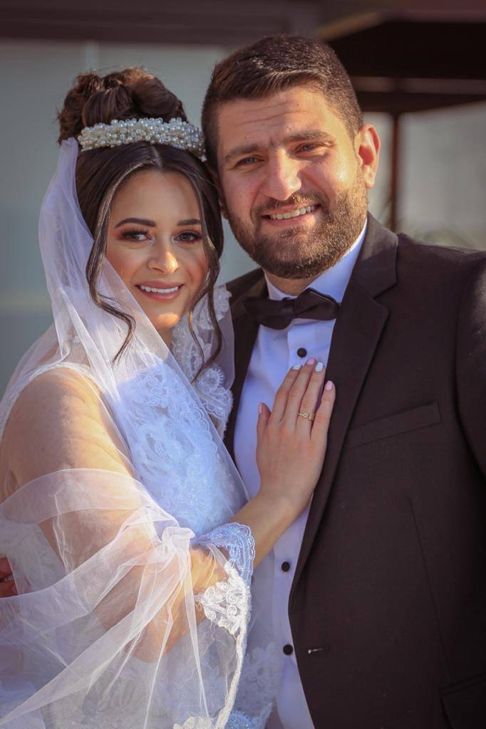براء عبدالكريم حرزالله والاعلامية لين جاسم الف مبروك الزواج