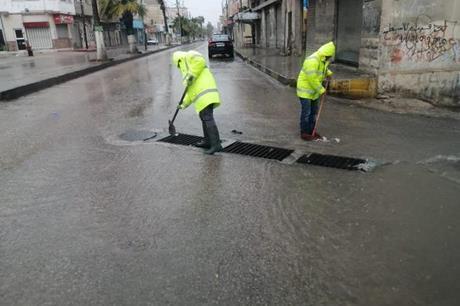 بلدية إربد تتعامل مع 150 شكوى خلال المنخفض الجوي الأخير