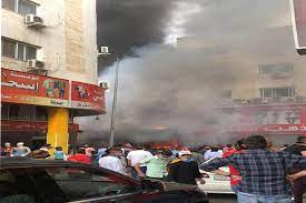 اخماد حريق شب بمحلات ألبسة في العقبة