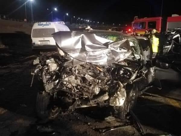 وفاة اربعة اشخاص وإصابة أثنين آخرين إثر حادث تصادم في محافظة العقبة