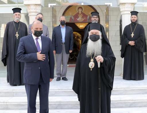 رئيس مجلس النواب يزور مطرانية الروم الأرثوذكس