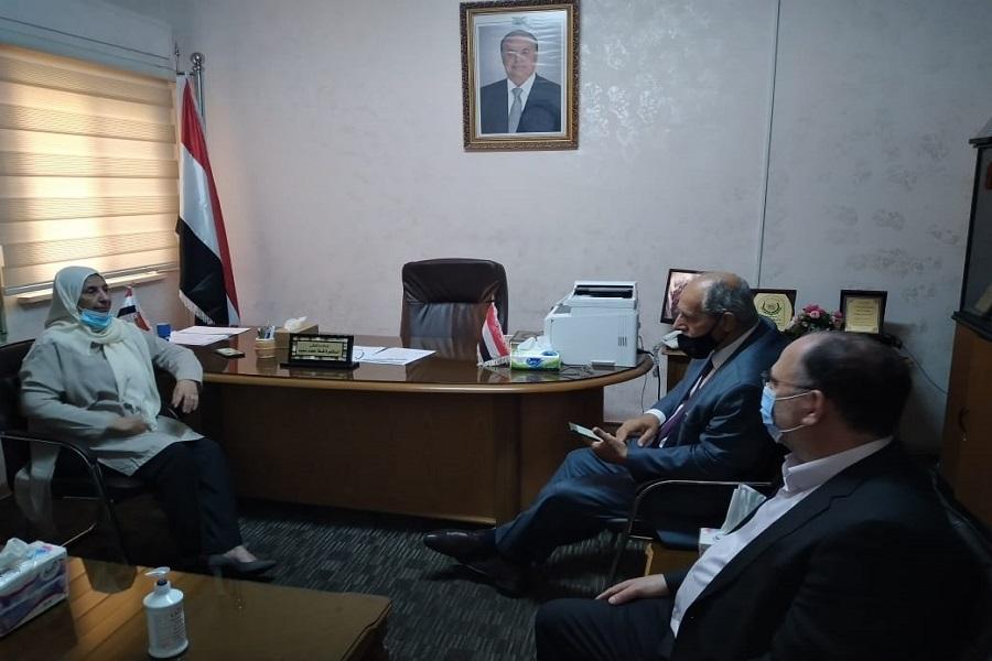 بحث تعزيز التعاون بين اليرموك والملحقية اليمنية
