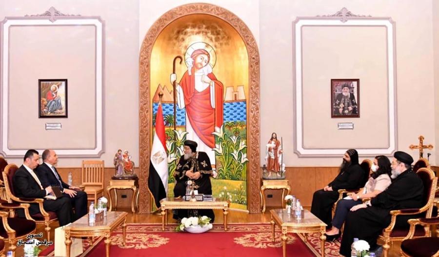 العضايلة يلتقي في القاهرة بابا الإسكندرية وبطريرك الكرازة المرقسية