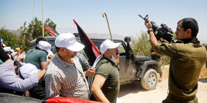 استشهاد فلسطيني واصابة 6 برصاص الاحتلال في بيتا جنوب نابلس