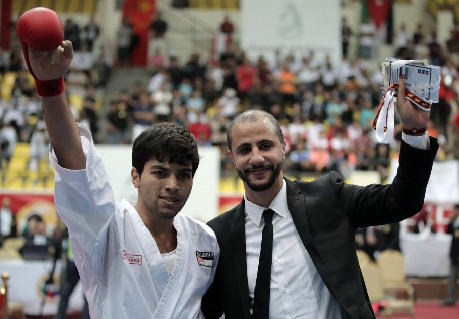 لاعب منتخب الكراتيه مصاطفة يتأهل إلى أولمبياد طوكيو