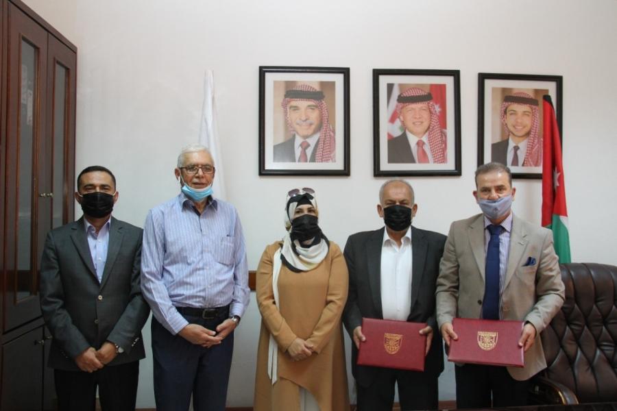 مذكرة تفاهم بين جامعة البلقاء  التطبيقية والجمعية الأردنية لمصدري ومنتجي  الخضار والفواكهJEPA