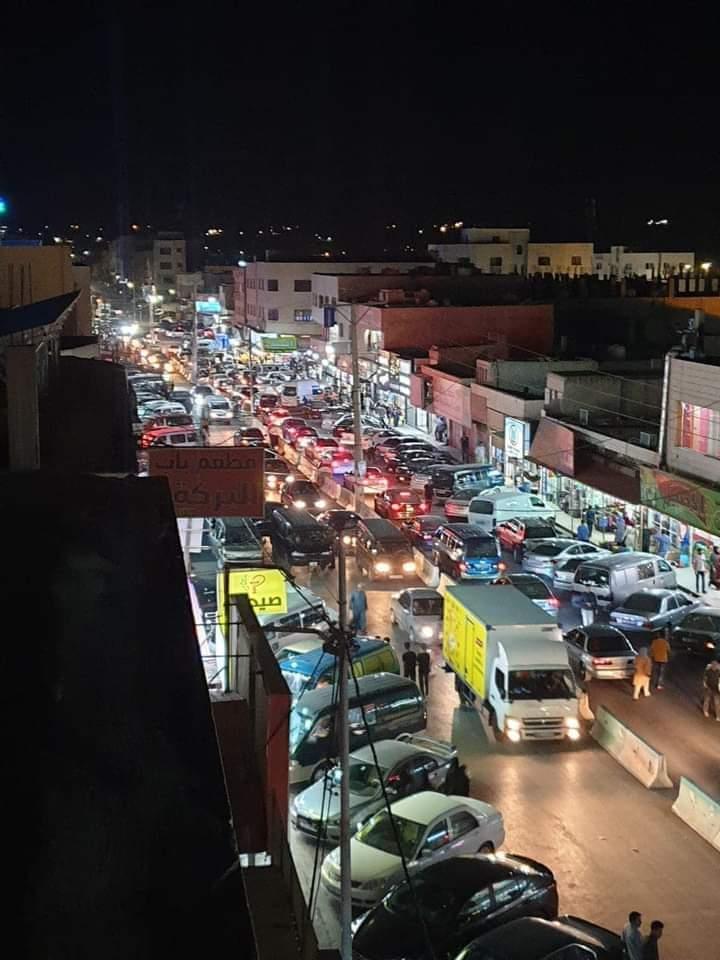 أزمة سير خانقة و ركود تجاري في محافظة الكرك
