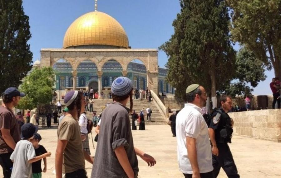 مستوطنون متطرفون يقتحمون الأقصى في يوم عرفة بحراسة شرطة الاحتلال