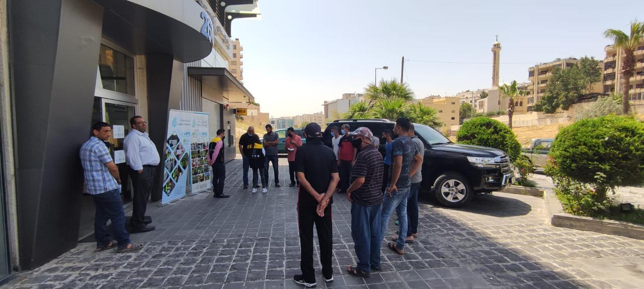 مبادرة جدارا تنفذ حملة كسوة العيد بالتعاون مع  وسط البلد