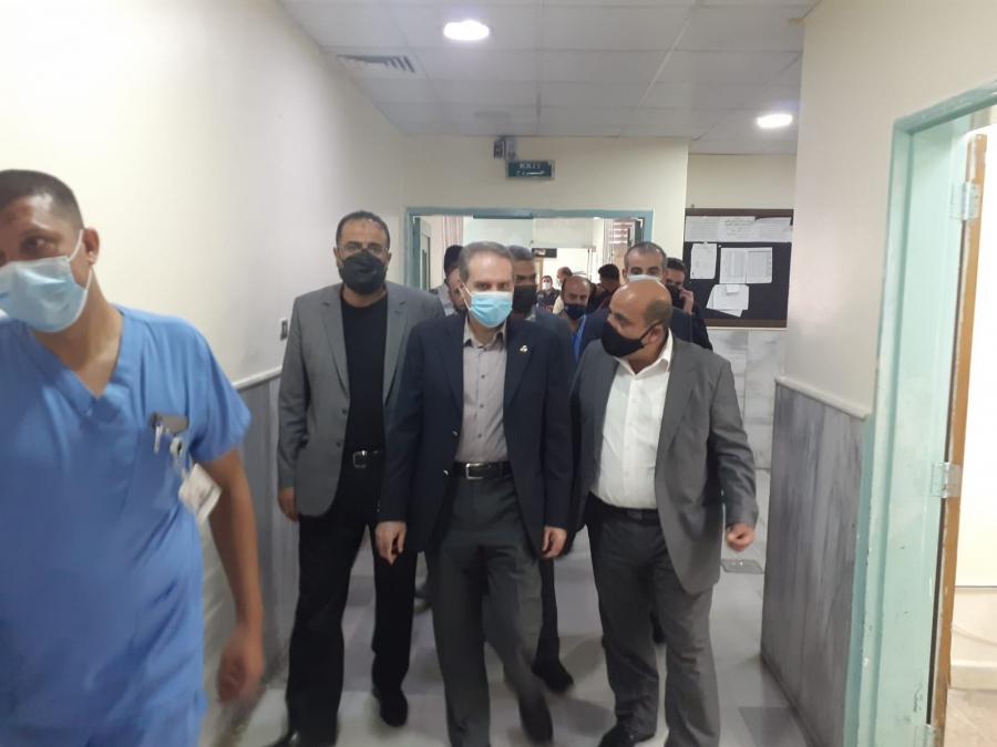 وزير الصحة  يتفقد خدمات مستشفيات الأميرة بسمة والأميرة بديعة والأميرة رحمة ويهنئ الكوادر بالعيد