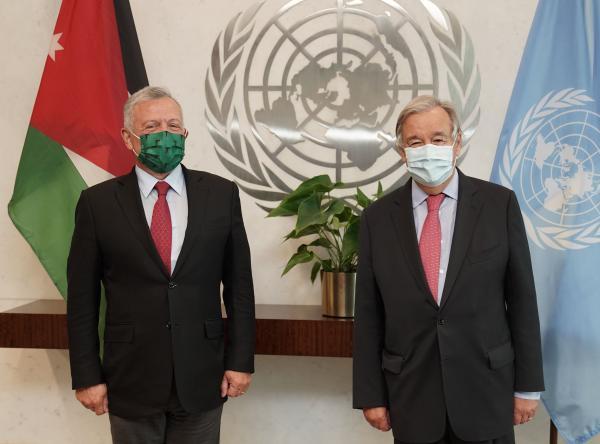 الملك يؤكد أهمية دور الامم المتحدة في تحريك عملية السلام