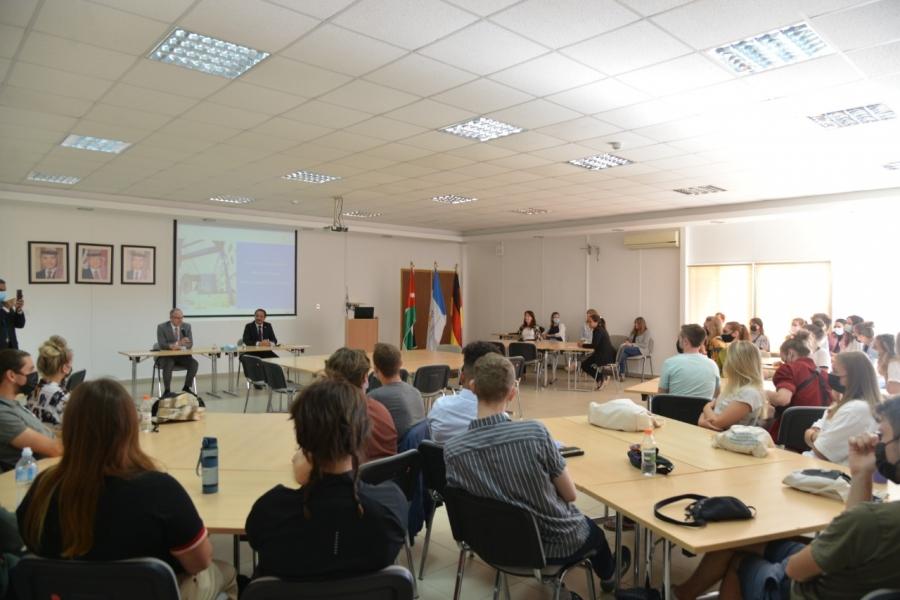 لقاء ترحيبي بطلاب التبادل الثقافي والأكاديمي في الجامعة الألمانية الأردنية