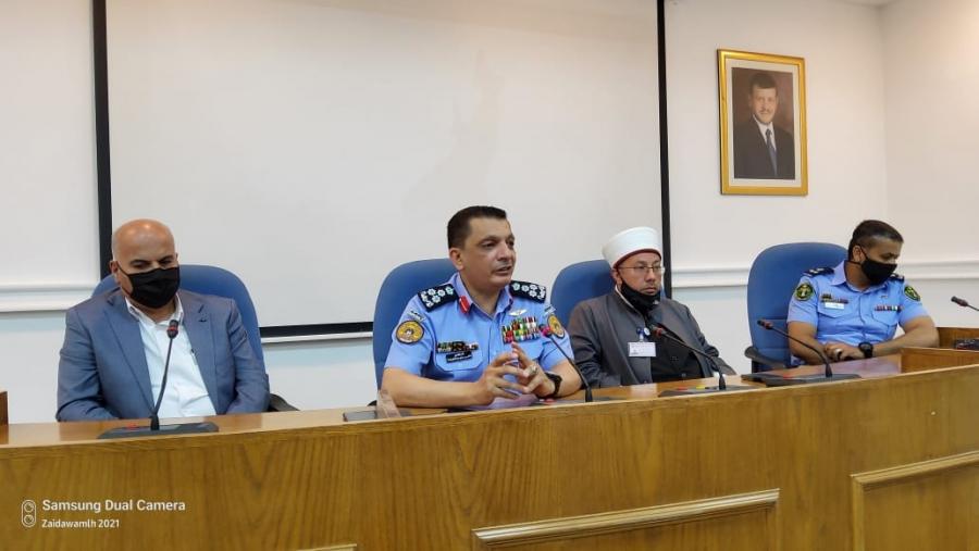 ندوة مبادرة افراحنا أمنه في بلدية السلط بالتعاون مع الشرطة المجتمعية