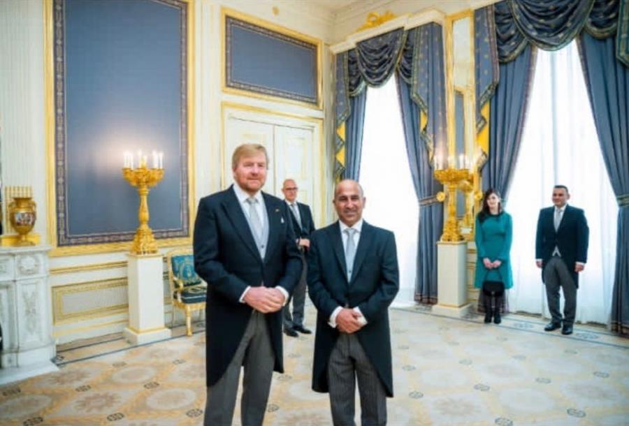 السفير الفايز يقدم أوراق اعتماده لملك هولندا